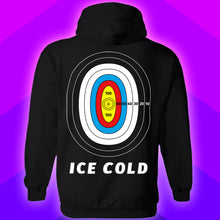 Load image into Gallery viewer, Ice cold target practice cop killer hoodie design by palm treat