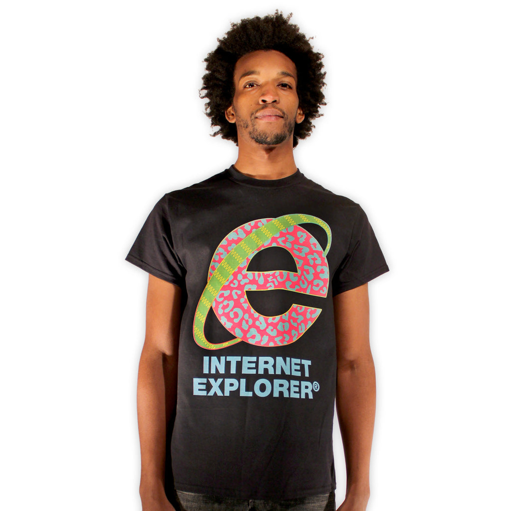 internet explorer MTV vaporwave aesthetic chillwave t-shirt by palm treat by Jeff Nolan & Marie Nolan