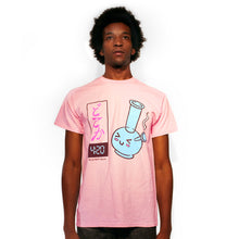 Load image into Gallery viewer, 420 t-shirt lets get high bong design by Palm Treat artists Jeff Nolan & Marie Nolan
