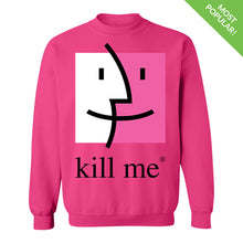Load image into Gallery viewer, Kill Me Finder Crewneck Sweatshirt by palm-treat.myshopify.com for sale online now - the latest Vaporwave & Soft Grunge Clothing