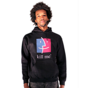 kill me apple finder nihilism ironic hoodie by palm treat artists jeff nolan & marie nolan