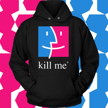 Load image into Gallery viewer, Apple Finder Kill Me Hoodie Tech Support Design Edition by Palm Treat artists Jeff Nolan & Marie Nolan