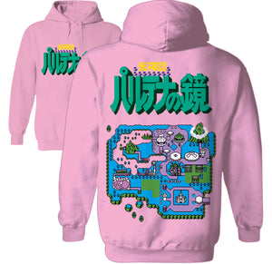 konami island 8-bit over world map hoodie by palm treat