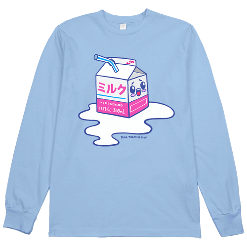 Spilled Milk Kawaii L/S Tee