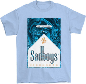 Sadboys Blue T-Shirt by palm-treat.myshopify.com for sale online now - the latest Vaporwave & Soft Grunge Clothing