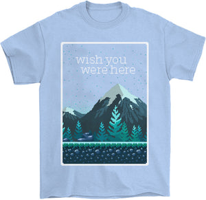 Wish You Were Here T-Shirt by palm-treat.myshopify.com for sale online now - the latest Vaporwave & Soft Grunge Clothing