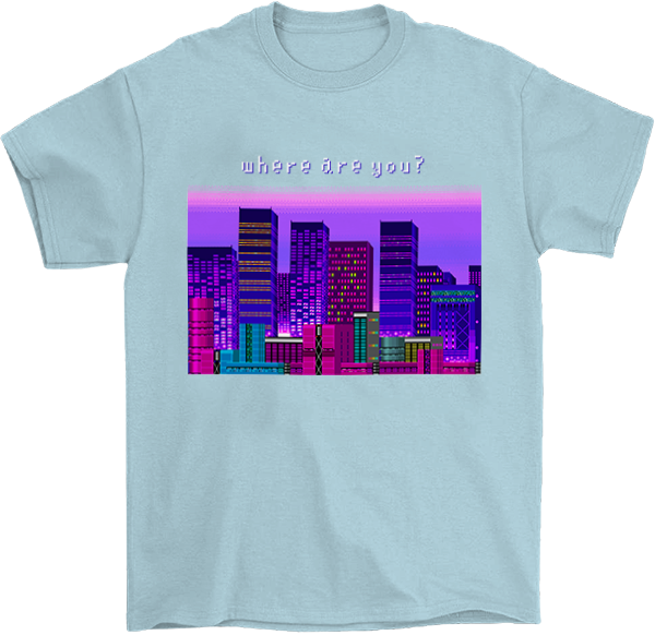 Where Are You? 8 Bit T-Shirt
