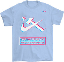 Load image into Gallery viewer, Hammer & Sickle Anaglyph T-Shirt by palm-treat.myshopify.com for sale online now - the latest Vaporwave & Soft Grunge Clothing