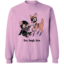 Load image into Gallery viewer, Live, Laugh, Love Crewneck Sweatshirt