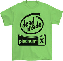 Load image into Gallery viewer, Black Out Dead Inside T-Shirt by palm-treat.myshopify.com for sale online now - the latest Vaporwave & Soft Grunge Clothing