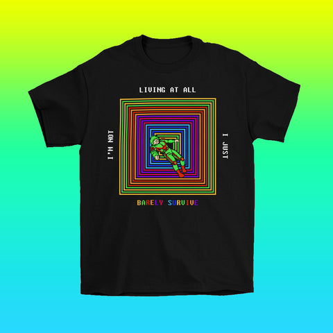 8-bit pixel art retro computer design t-shirt by Palm Treat artists Jeff Nolan & Marie Nolan