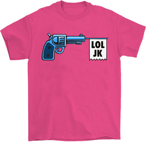 cartoon gangster gun banner shirt
