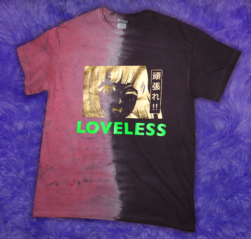 Loveless Gold Lamé + Neon Tie-Dye T-Shirt