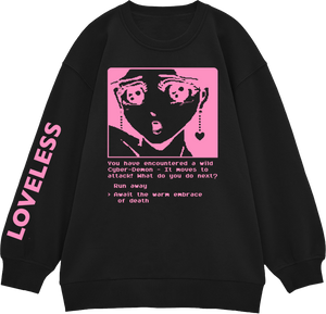 Digital Demon Loveless Gold Lamé + Pink Jumper