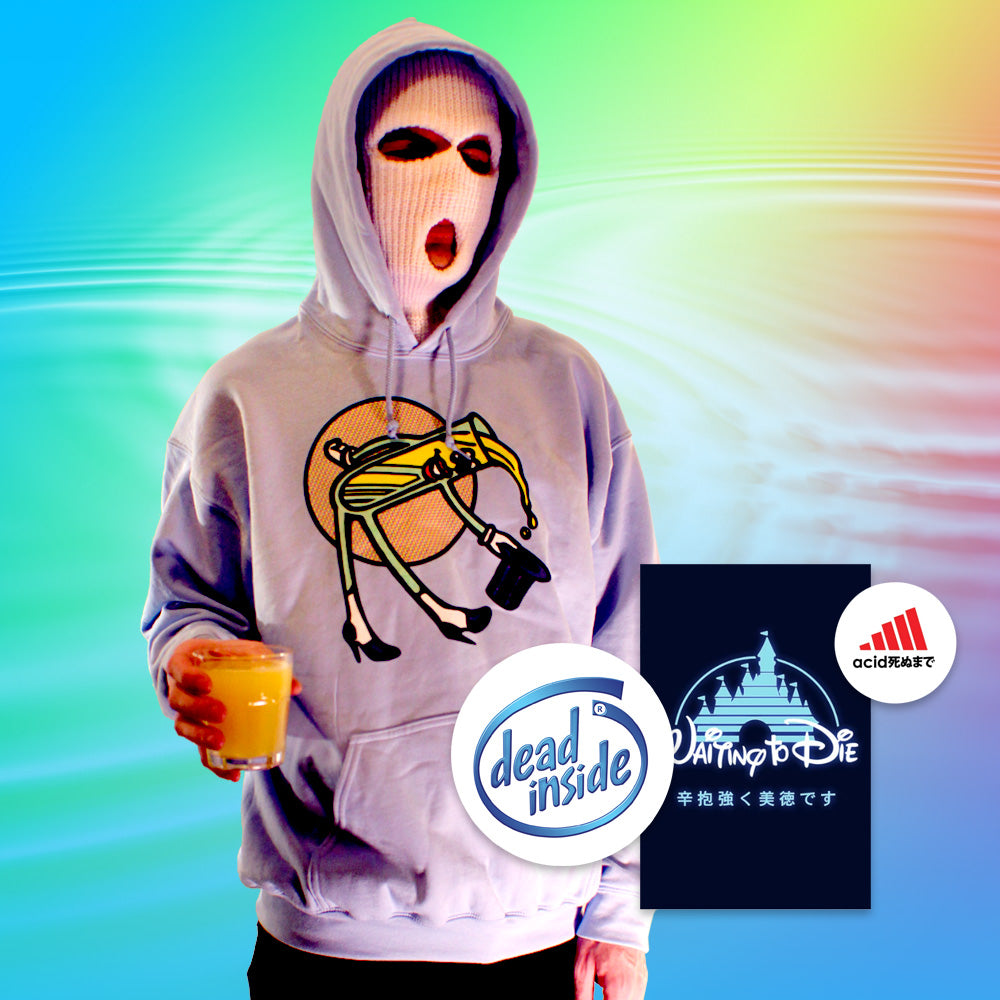 LSD Hoodie - Large by palm-treat.myshopify.com for sale online now - the latest Vaporwave & Soft Grunge Clothing