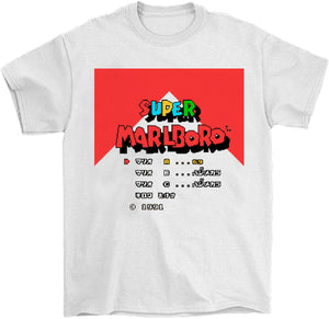 Super Marlboro 8 bit retro video game cigarette shirt by palm treat