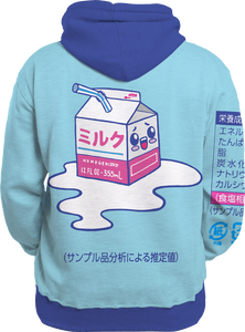 Kawaii Spilled Milk All Over Hoodie