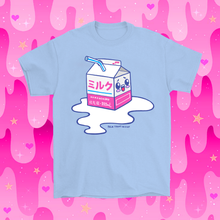 Load image into Gallery viewer, Kawaii Spilled Milk T-Shirt Blue