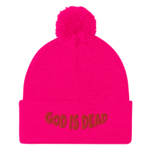 Load image into Gallery viewer, God is Dead Pom-Pom Beanie