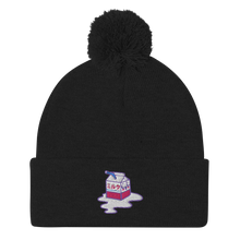 Load image into Gallery viewer, Spilled Milk Pom-Pom Beanie