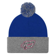 Load image into Gallery viewer, Nobody Cares Pom-Pom Beanie