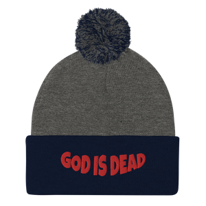 God is Dead Pom-Pom Beanie