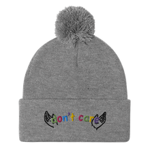 Load image into Gallery viewer, Don't Care Pom-Pom Beanie