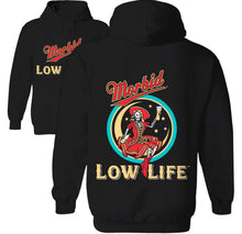 Load image into Gallery viewer, morbid low life miller high life beer hoodie by palm treat