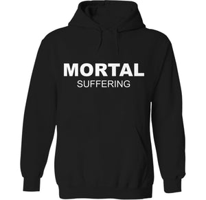 mortal suffering when it rains it pours emo skeleton punk rock dog hoodie