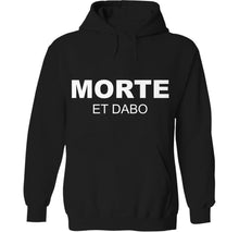 Load image into Gallery viewer, morte et dabo morton salt skeleton dead emo girl hoodie by Palm Treat