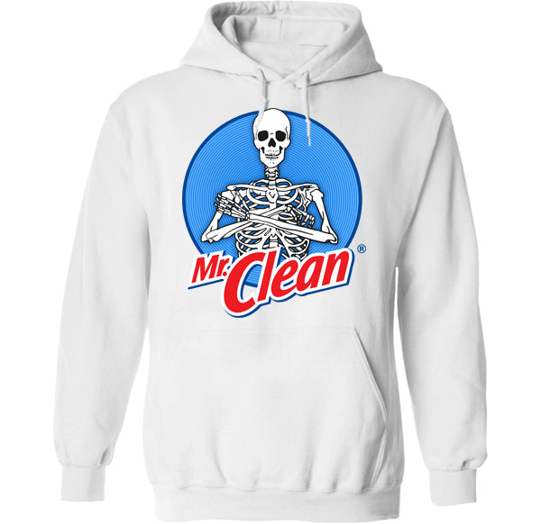 mr clean skeleton muscle hoodie design by palm treat artists jeff nolan and marie nolan