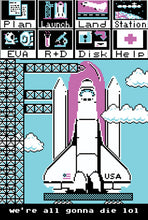 Load image into Gallery viewer, 8bit waifu rocket poster free shipping