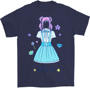 Pinku Anime T-Shirt