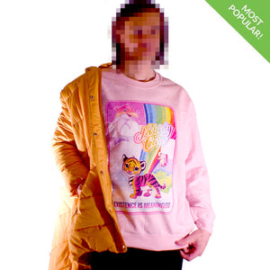 Nobody Cares Crewneck Sweatshirt by palm-treat.myshopify.com for sale online now - the latest Vaporwave & Soft Grunge Clothing