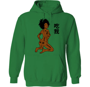 naked sexy anime chick hoodie