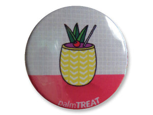 tropical drink cute summer pin for femme denim jacket