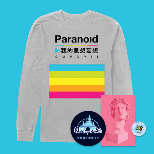 Paranoid Grey Long Sleeve T-Shirt - 3XL