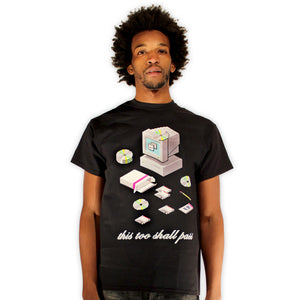 Windows eternity existential 8-bit piel art t-shirt by palm treat artists jeff nolan & Marie nolan