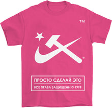 Load image into Gallery viewer, Techno hot pink music festival T-shirt high energy summer shirts