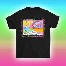 Load image into Gallery viewer, pizza time greek statue vaporwave aesthetic t-shirt by Palm Treat