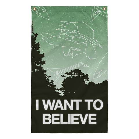 X-Files I want to believe ufo flag for sale online