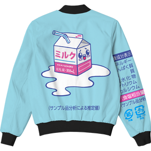 Kawaii Spilled Milk Bomber Jacket