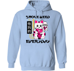 palm treat stoner cat japanese hoodie by palm treat