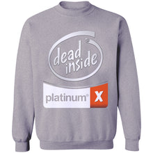 Load image into Gallery viewer, White Out Dead Inside Crewneck Sweatshirt