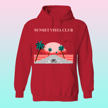 Load image into Gallery viewer, Sunset Vista Club by 8-bit Stories Hoodie