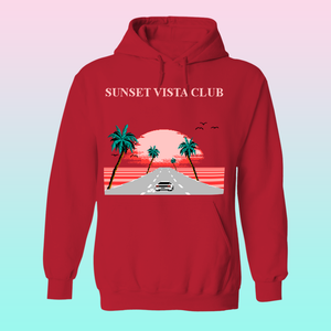 Sunset Vista Club by 8-bit Stories Hoodie