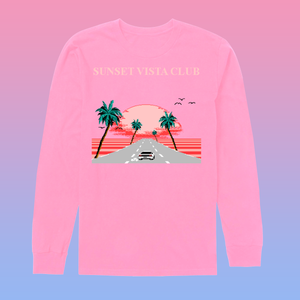 8-bit Stories Sunset Vista Club by palm-treat.myshopify.com for sale online now - the latest Vaporwave & Soft Grunge Clothing