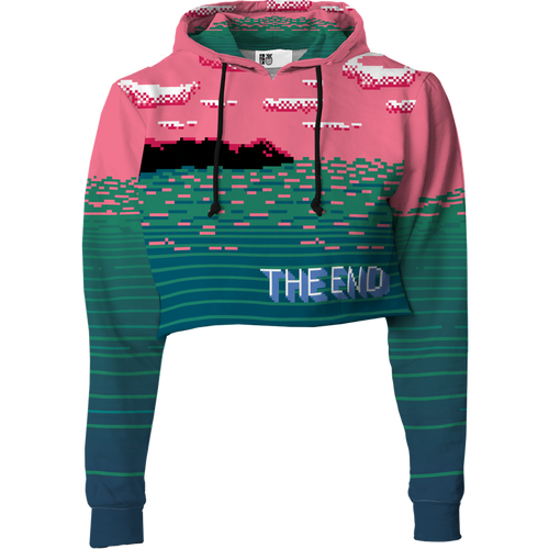 The End Crop Top Hoodie