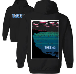 the end 8-bit collection nes pixel art video game hoodie by Palm treat