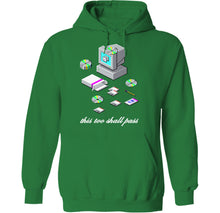 Load image into Gallery viewer, this too shall pass windows 95 98 installation icon logos screen microsoft t-shirt hoodie by palm treat artists jeff nolan & marie nolan
